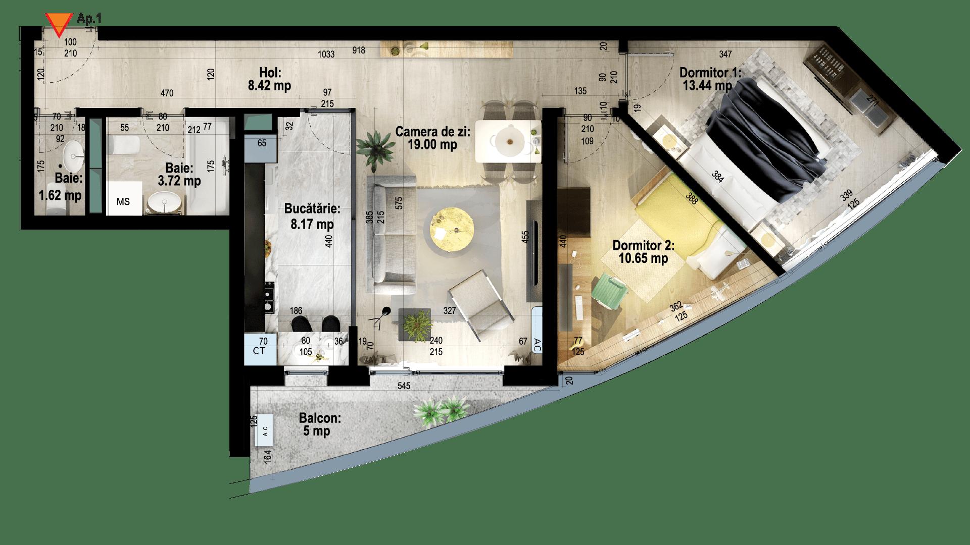 Apartament tip 1