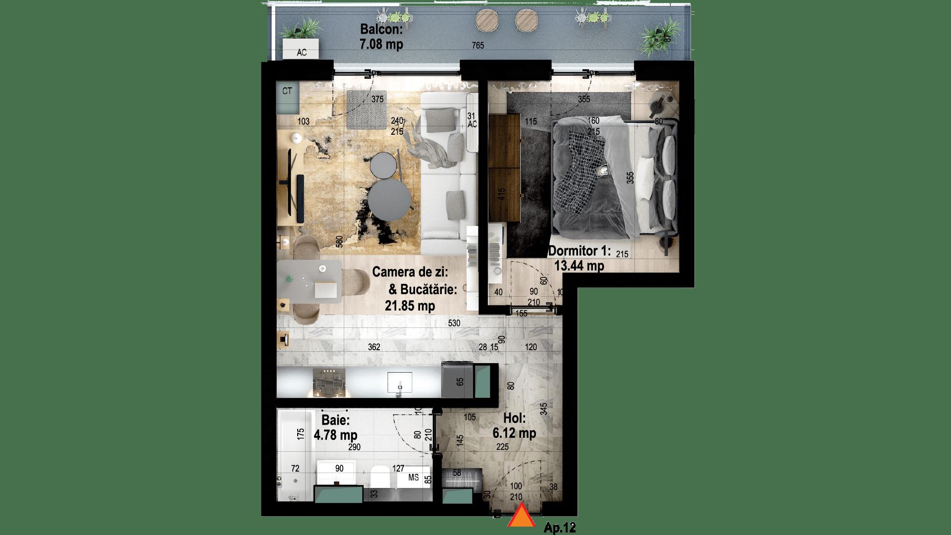 Apartament tip 12