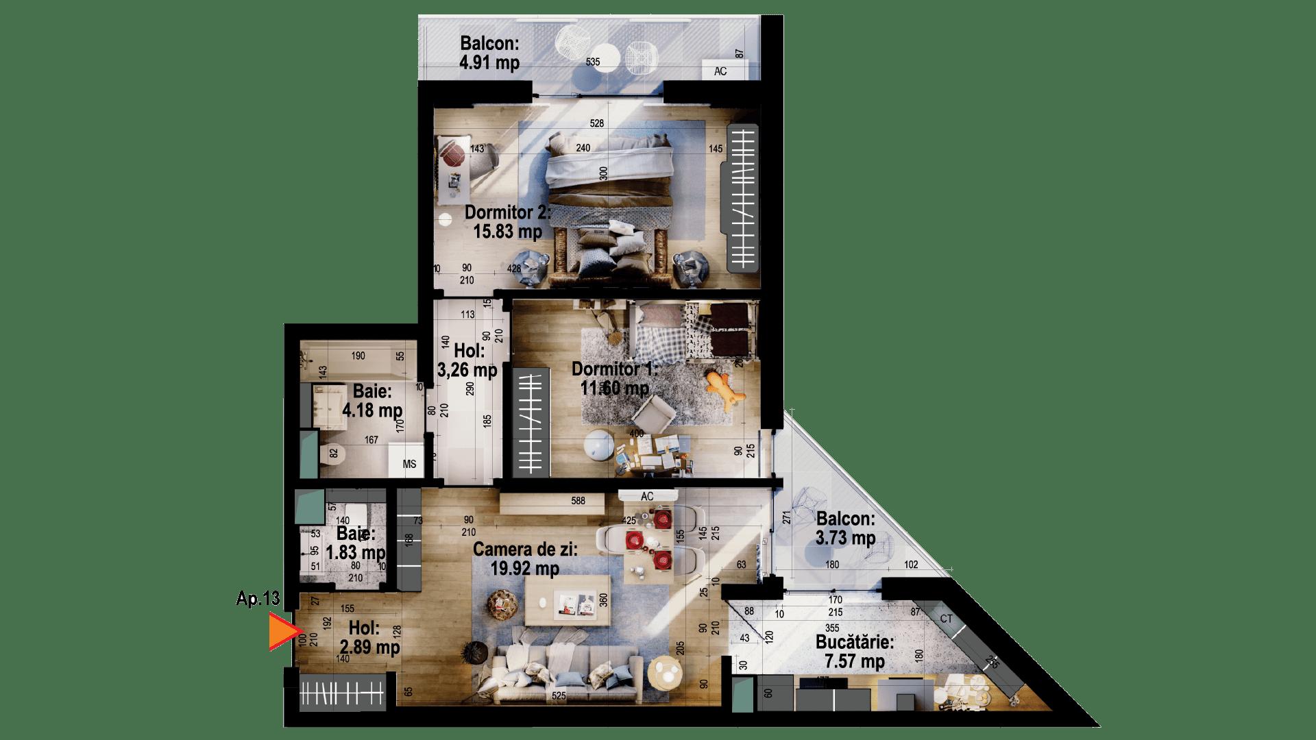 Apartament tip 13