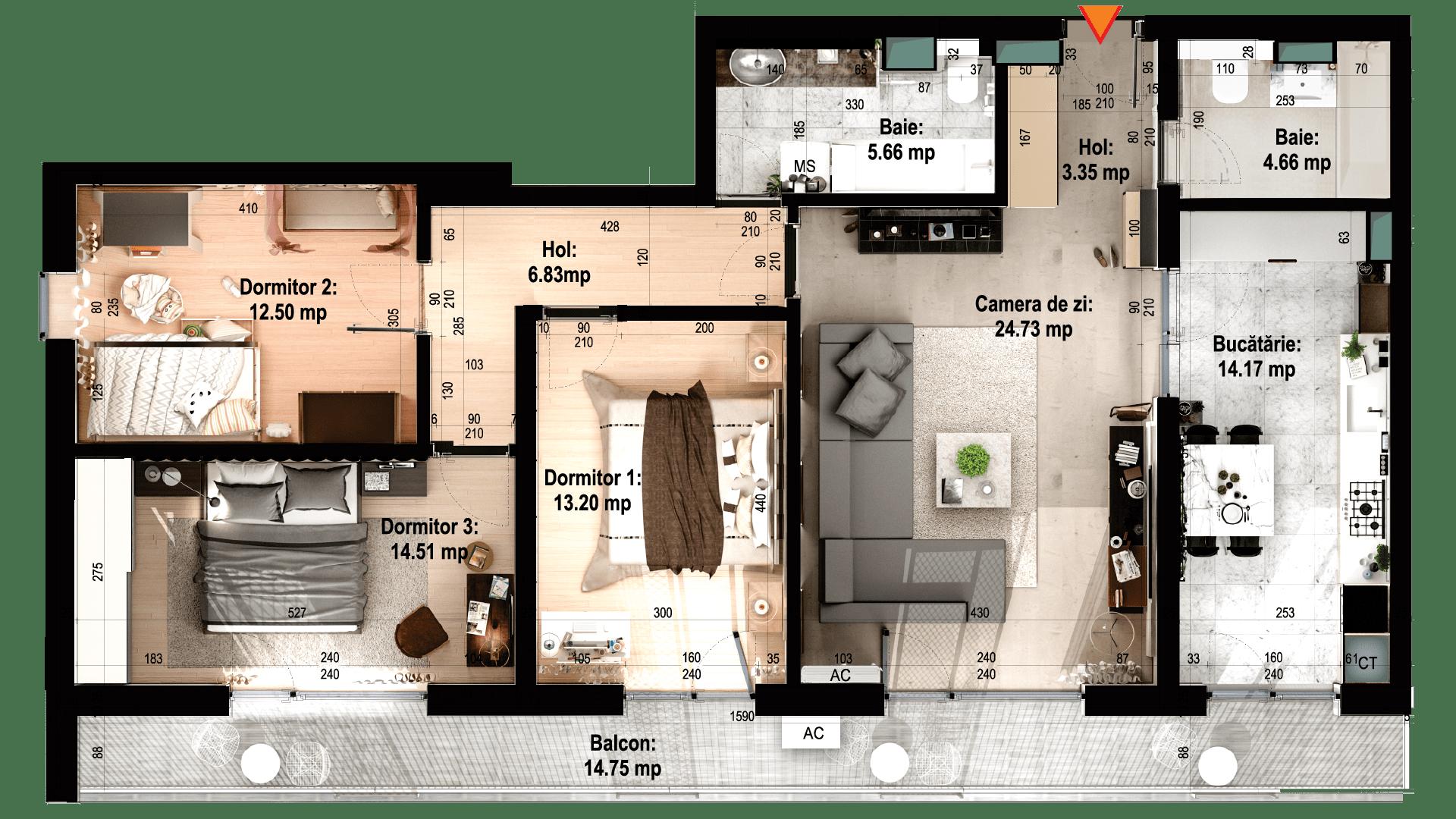 Apartament tip 15