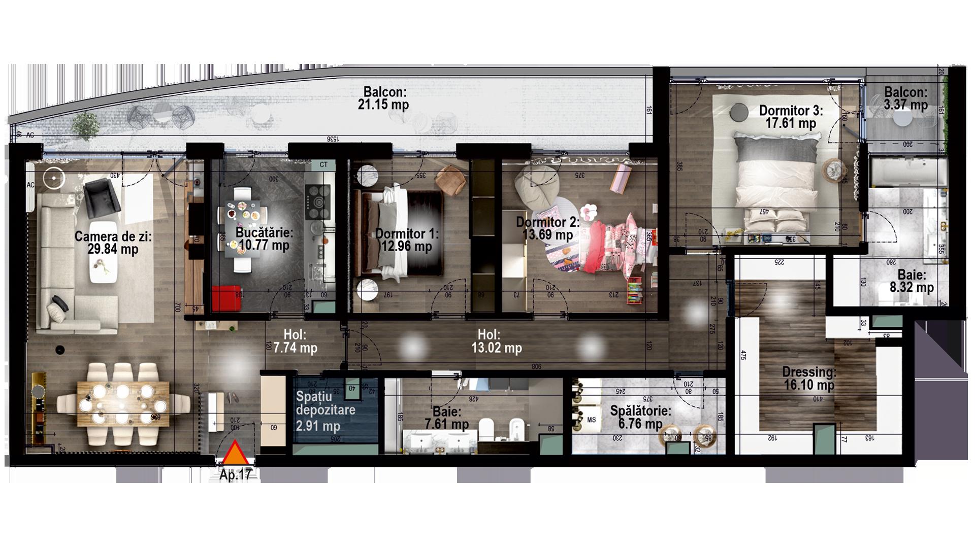 Apartament tip 17