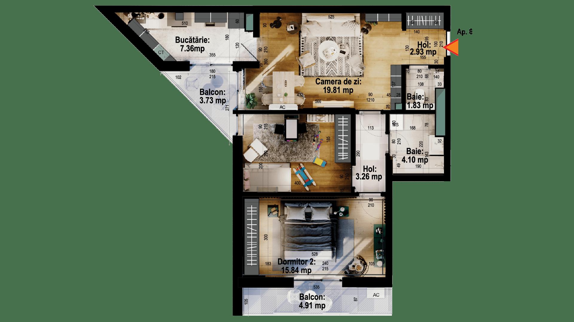 Apartament tip 6
