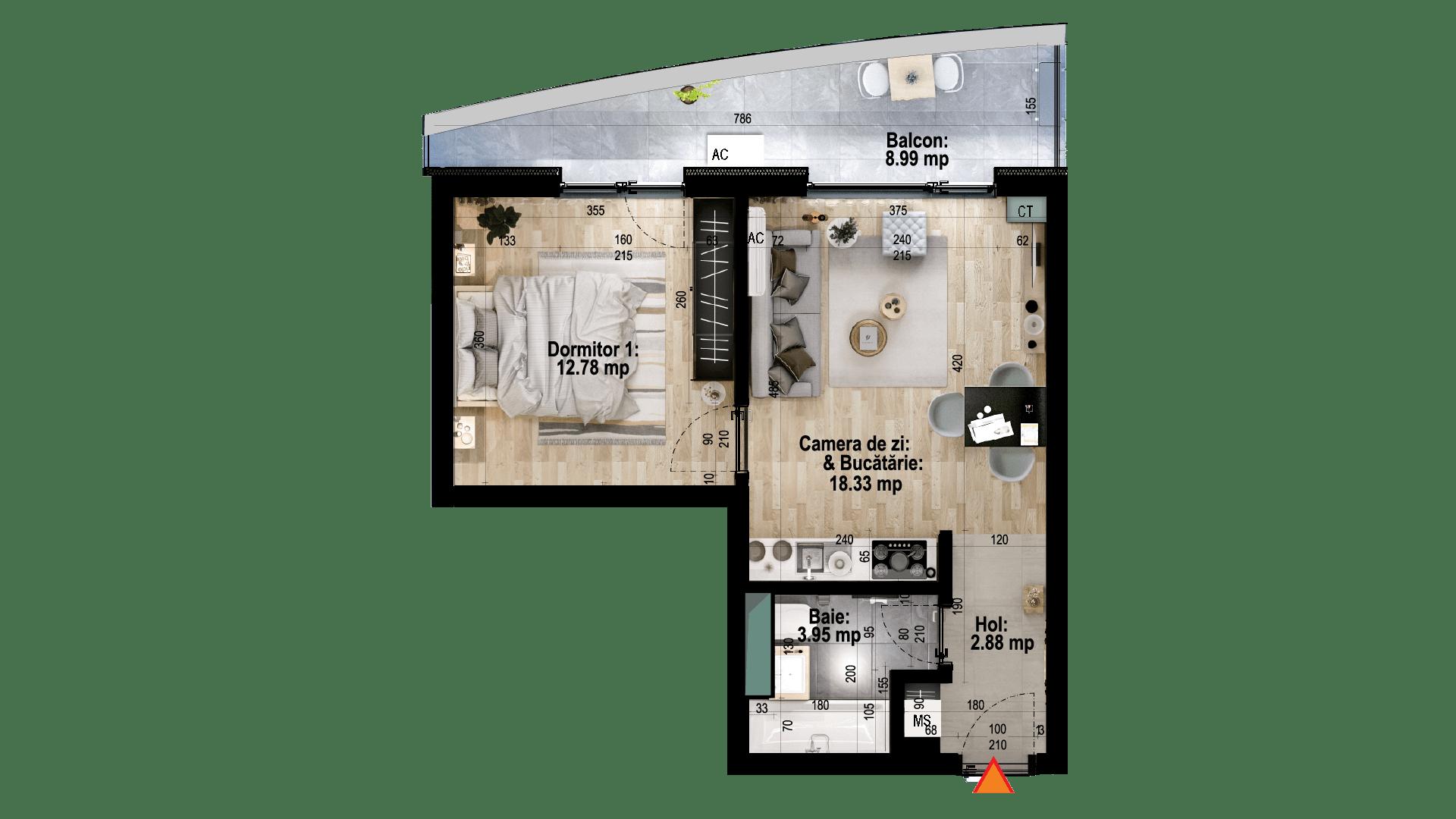 Apartament tip 8